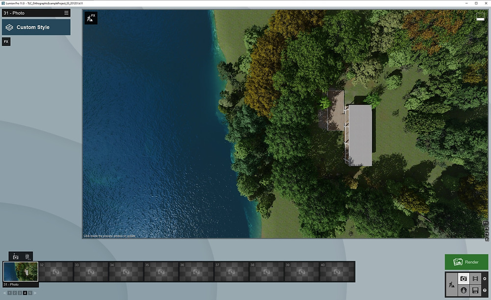 Image Showing WIP Aerial View of Farnsworth. Image by The Lumion Collective.