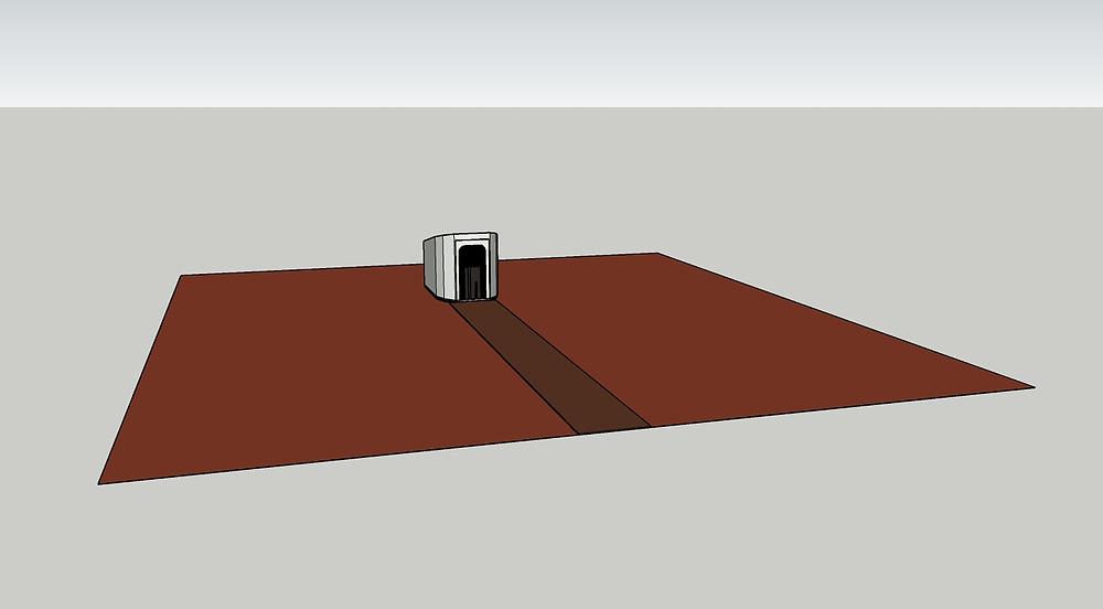 Sketchup Model of Building and Terrain Mesh
