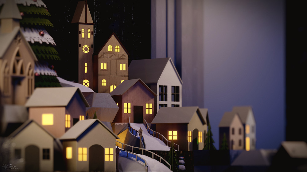 3D Render of Miniature Christmas Village, Rendered in Lumion 11 by The Lumion Collective