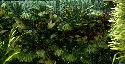 Lumion Render of Exterior Garden Wall with Lush Foliage, 3D Visualization by Ark Visuals