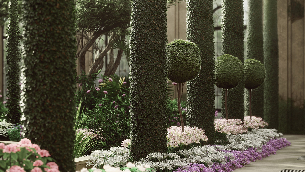Lumion Render of Longwood Project, Lush Manicured Gardens, by The Lumion Collective
