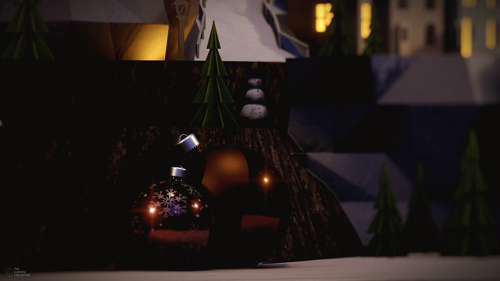 3D Render of Christmas Baubles, Rendered in Lumion 11 by The Lumion Collective