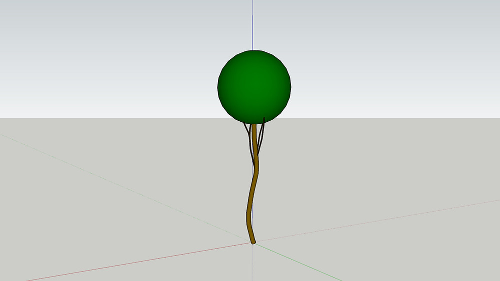 Sketchup Plant Mesh with Material ID Added to Each Element, Model by The Lumion Collective