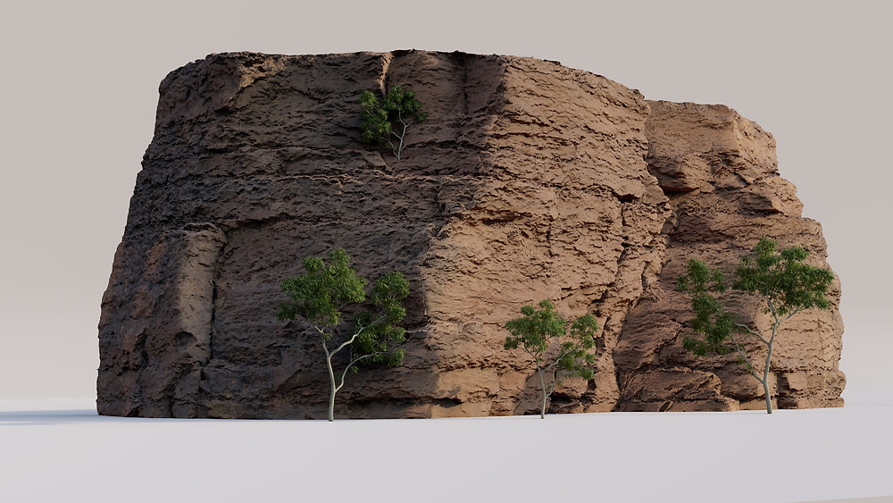 Image showing Megascans Cliff in Lumion Render. Image by The Lumion Collective.