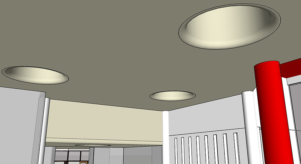 Image of Sketchup Model with Skylights. Image by The Lumion Collective