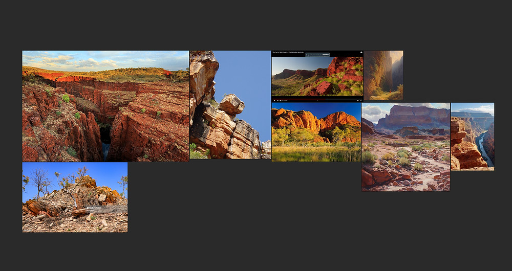 Image showing PureRef Mood board of desert environment references. Image by The Lumion Collective.