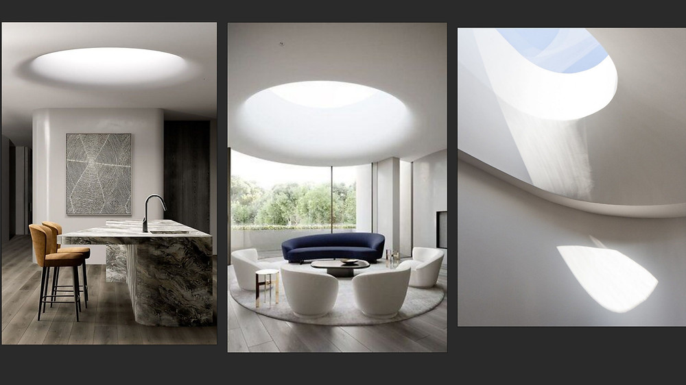 Image of collage showing various skylight designs.
