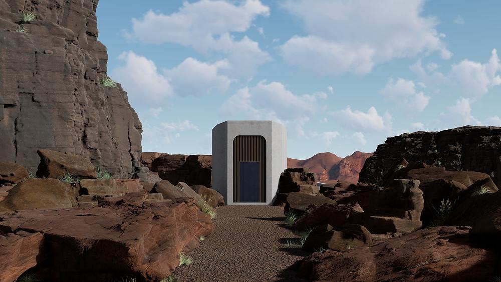 Image of Lumion desert progress. Image by The Lumion Collecitve.