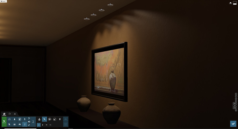 Image showing feature lighting in a hallway scene. Image by The Lumion Collective
