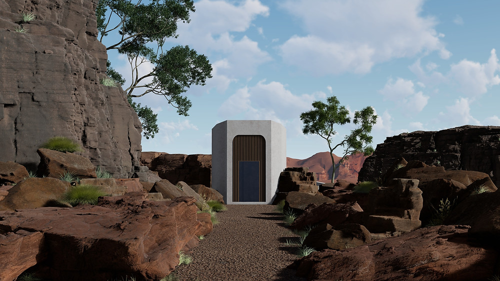 Image of Lumion scene showing Desert Environment. Render by The Lumion Collective