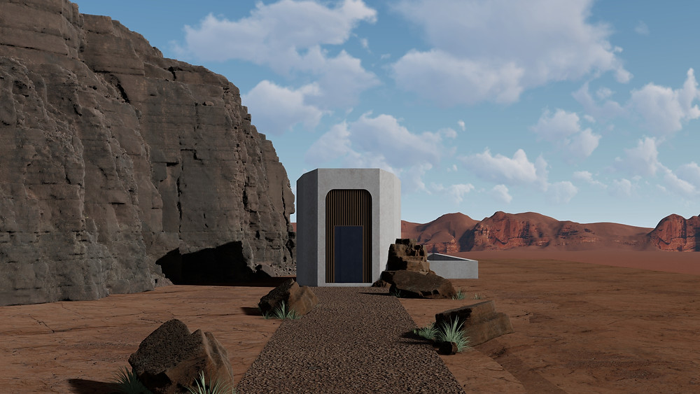 Image of Lumion Desert Progress. Image by The Lumion Collective