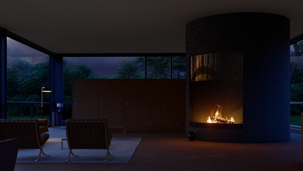 Rendering of Volumetric Fire in Lumion 11 by The Lumion Collective