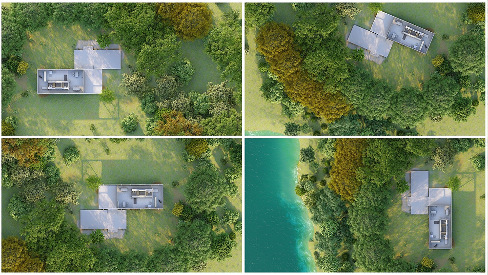Image Collage Showing Various Arial Views. Image By The Lumion Collective
