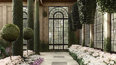 Longwood, Lumion Render of Longwood Gardens Color Graded with White Filter, Render by Ark Visuals