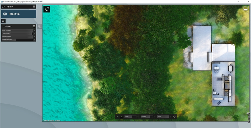 Image Showing Lumion UI Outlines Effect. Image by The Lumion Collective.