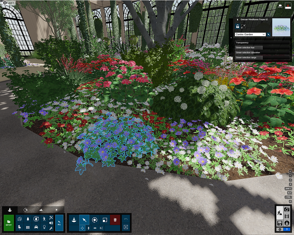 Image of Lumion Center Garden Group in Longwood. Image by The Lumion Collective