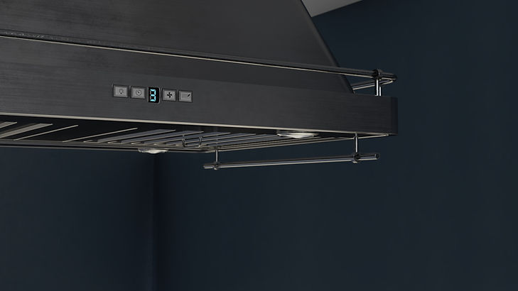The Craftsman, Close Up Visualization of Range Hood in Kitchen, 3D Render by Ark Visuals