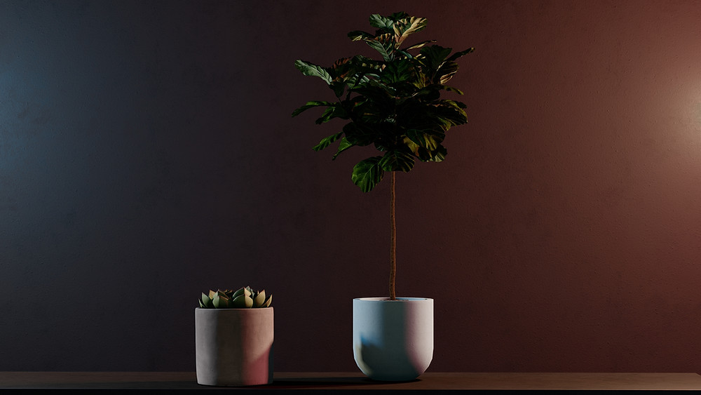 Image of plants being render in Lumion 11.3. Image by The Lumion Collective