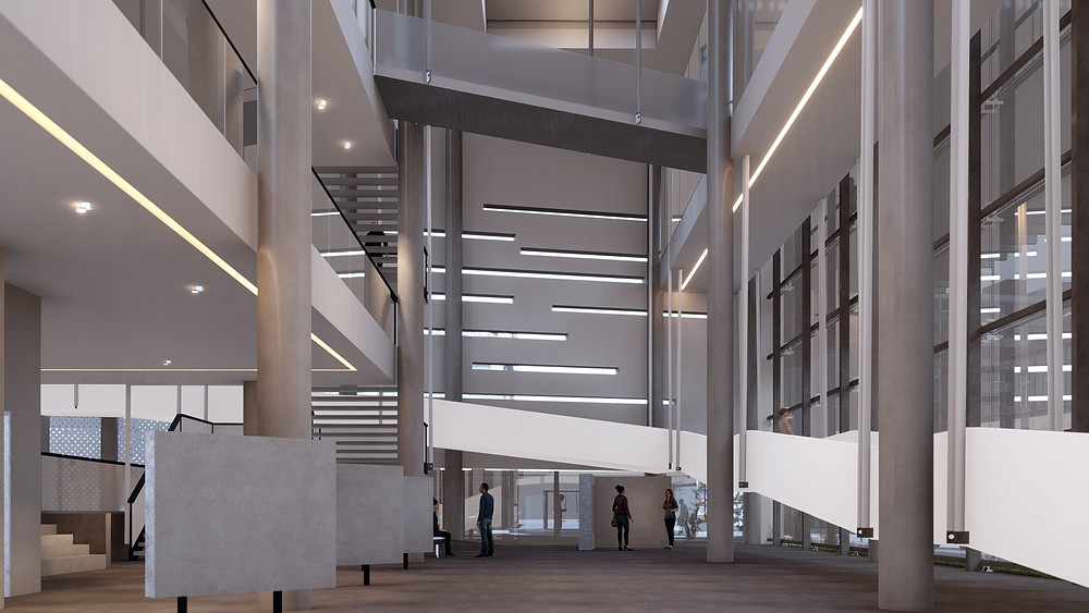 Render of Museum designed by Obravisual. Image by Lumion.