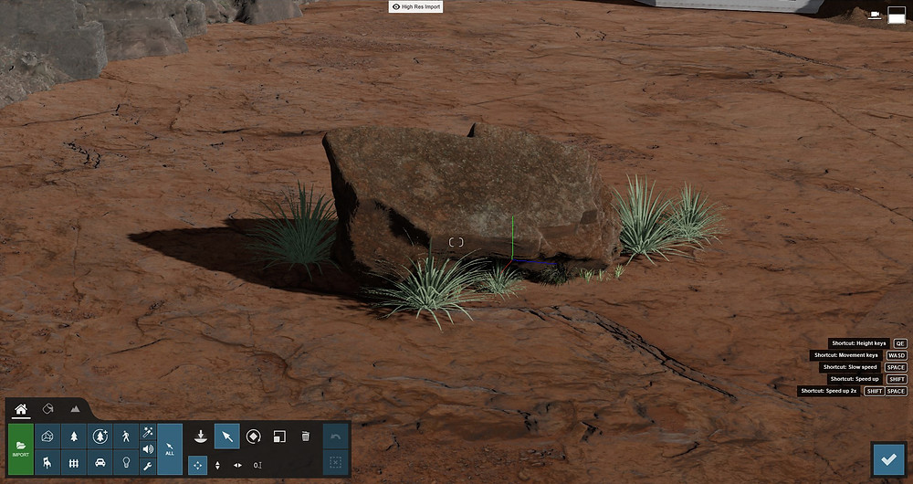 Image of Lumion rock and grass objects. Image by The Lumion Collective.