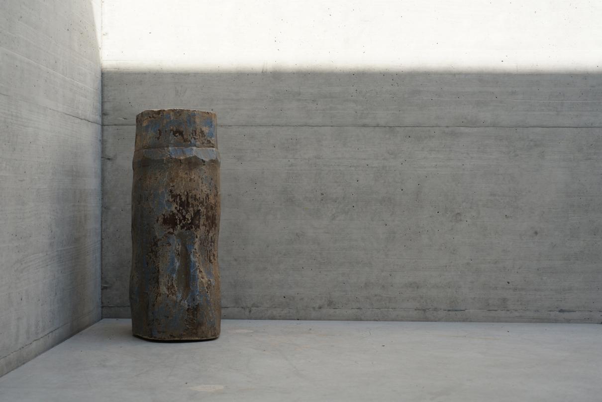 2 - wooden vase, India
