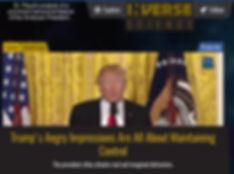 Dr. Joseph J. Plaud analyzes behavior of President Donald J. Trump