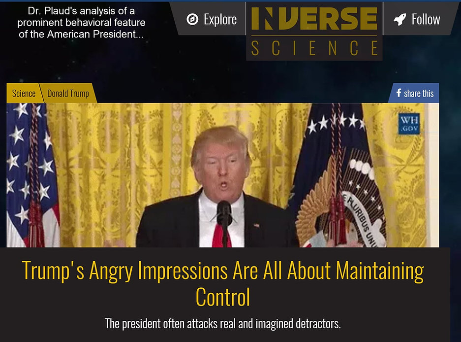 Dr. Joseph J. Plaud analyzes behavior of President Donald J. Trump