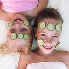 Girls with Cucumber Facial