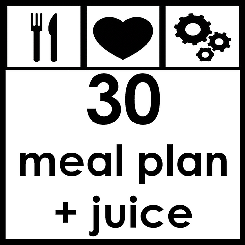 30 Meal Plan + Juice (Lunch or Dinner)