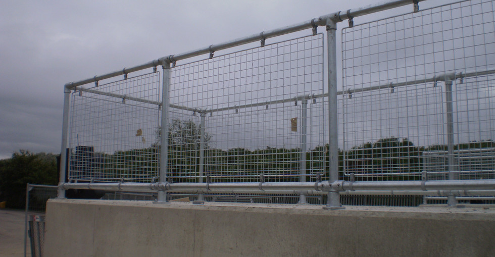 KITE Projects - Pebsham Recycling Centre - KITE Clamp Handrail with Mesh Infill