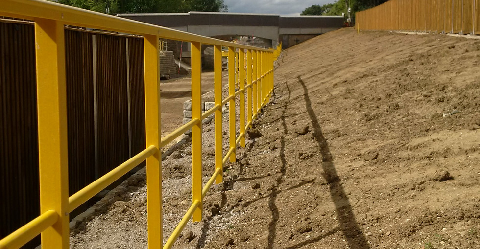 KITE Projects - Oxford-Bicester Line - KITE Omega GRP Handrail.