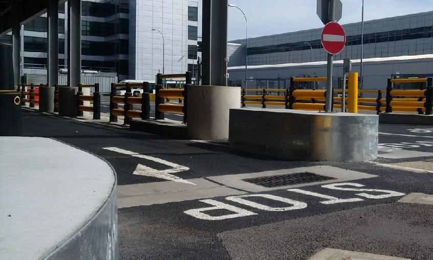 KITE Projects - Gatwick Airport - Bespoke Galvanised Traffic Islands