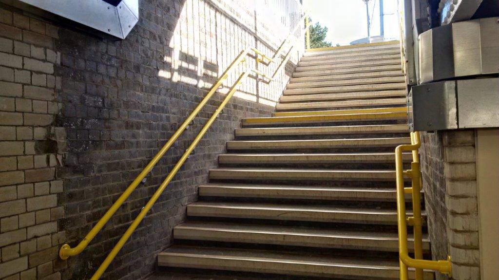 KITE Projects - Manningtree Station - KITE Powdercoated Handrail