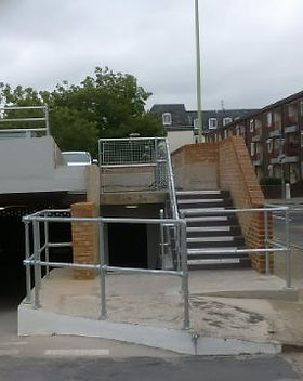 KITE Projects - Winchester Car Park - KITE Handrail with Mesh Infill