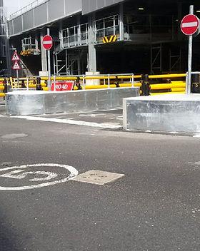 KITE Projects - Gatwick Airport - Bespoke Steel Traffic Islands