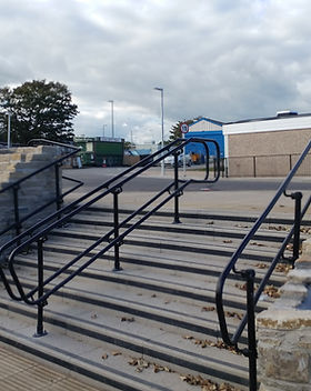 KITE Projects - Fareham Station - KITE Powdercoated Handrail