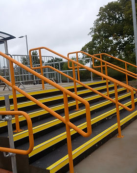 KITE Projects - Cranbrook Station - KITE Powdercoated Handrail