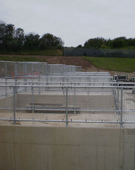 KITE Projects - Pebsham Recycling Centre - KITE Clamp with Mesh Infill