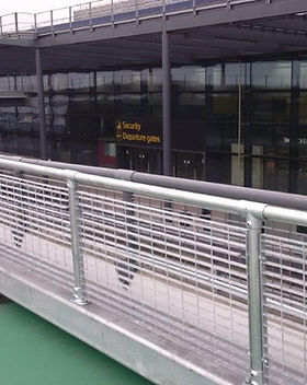 KITE Projects - Gatwick Airport - Anti-Climb Barriers
