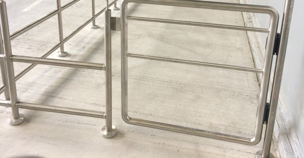 KITE Projects - Heathrow Airport - Stainless Steel Handrailing