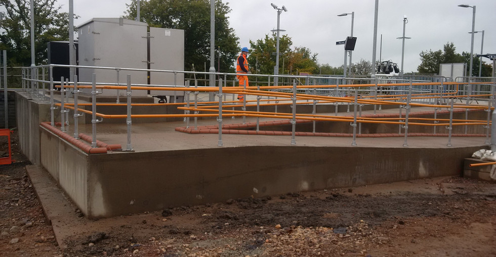 KITE Projects - Cranbrook Station - KITE Projects Powdercoated Handrail