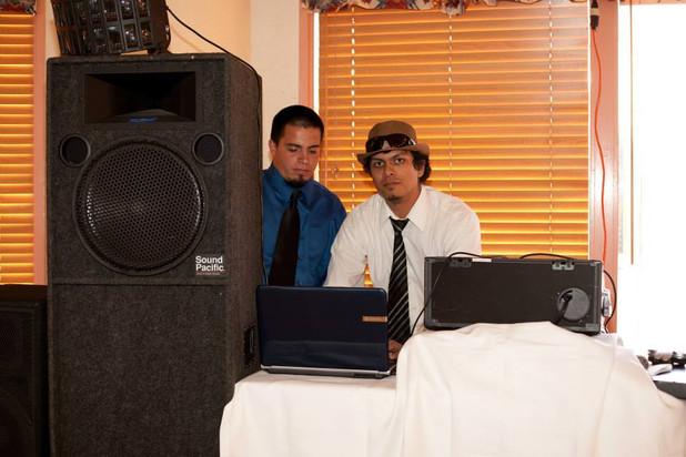 Brandon & Joe at a Wedding (in their 20s)