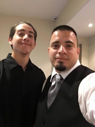 Brandon & JJ at a Wedding