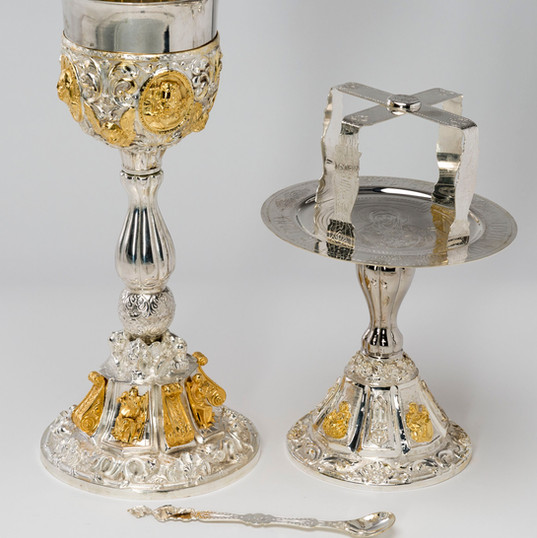 Sterling Silver Cup with Gold Plated Chalice Set -- LG91A