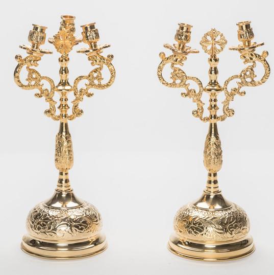 Bishop's Dikero-Trikero Candlesticks -- LG2A