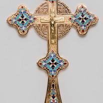 Partial Enamel Blessing Cross -- LG18H