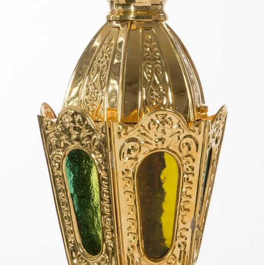 Six Sided Gold Plated Lantern -- LG10F