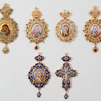 Bishop's Panagia Icon Pendants -- LG91I