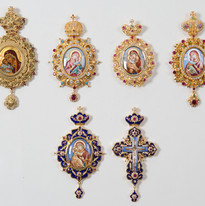 Bishop's Panagia Icon Pendants -- LG91