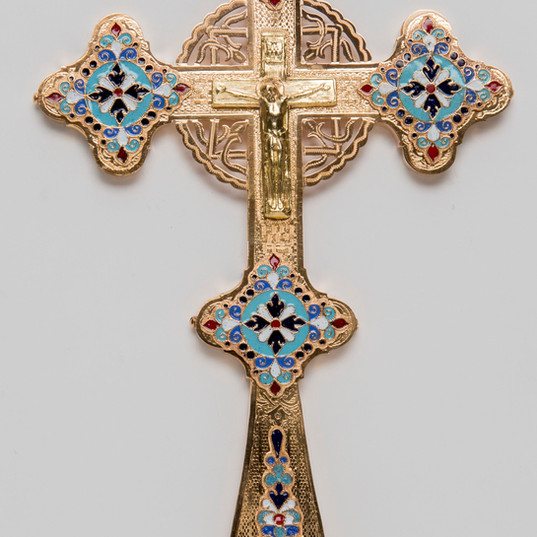 Enamel Blessing Cross -- LG18H